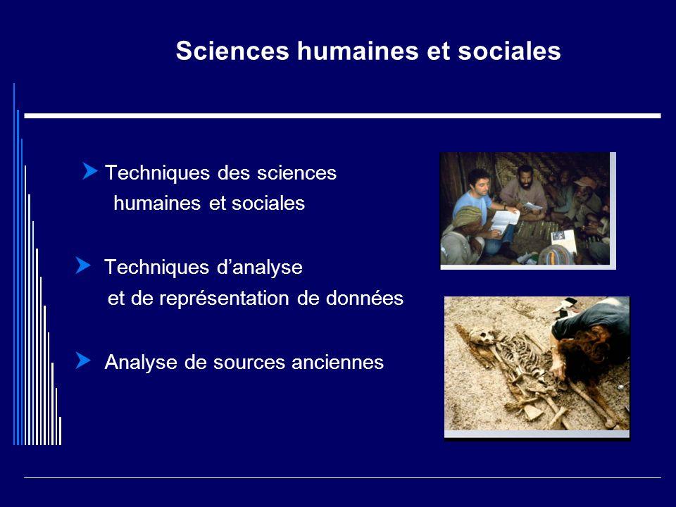 Sciences humaines et sociales Techniques des sciences humaines et sociales Techniques danalyse et de représentation de données Analyse de sources anci