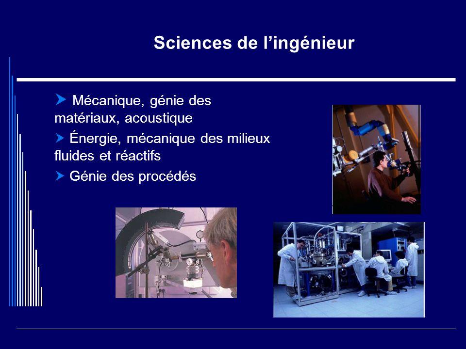 Sciences de lunivers Planète terre: structure, histoire et évolution Planète terre: enveloppes superficielles Physique et chimie de la terre Système solaire et univers lointain