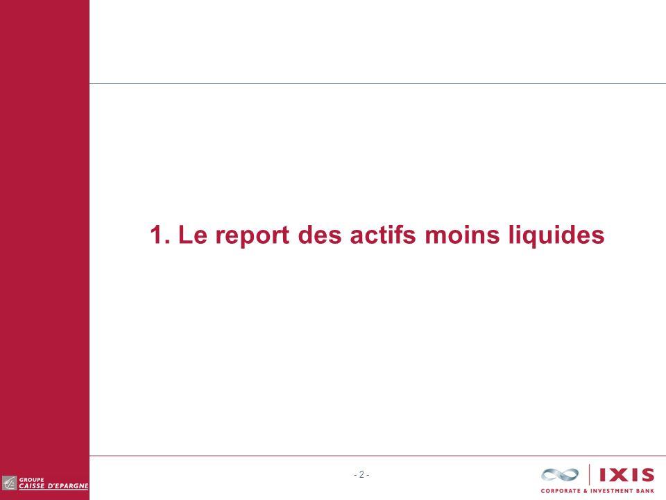 - 2 - 1. Le report des actifs moins liquides