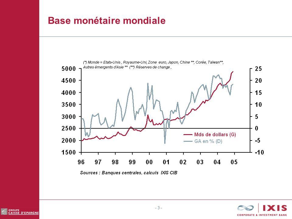- 3 - Base monétaire mondiale