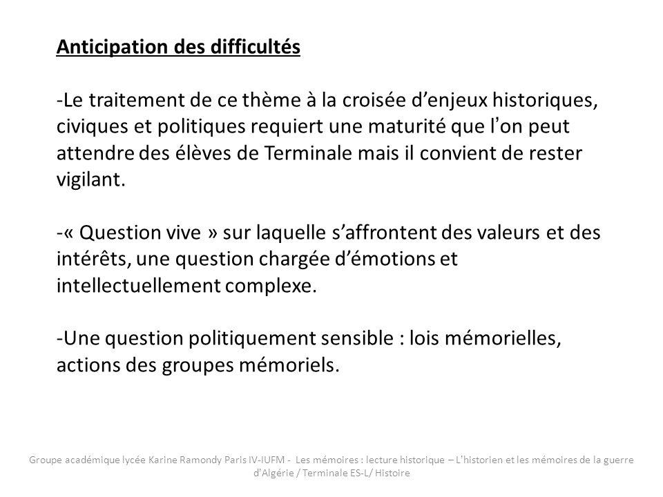 La prochaine inauguration, quai Branly à Paris, d un mémorial national va dans le même sens, celui de la « pédagogie à l intention des jeunes générations ».
