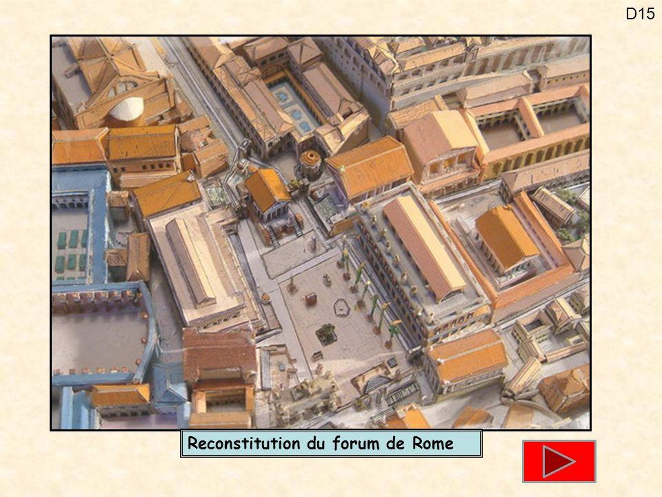 D15 Reconstitution du forum de Rome