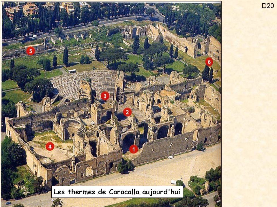 D20 Les thermes de Caracalla aujourd'hui