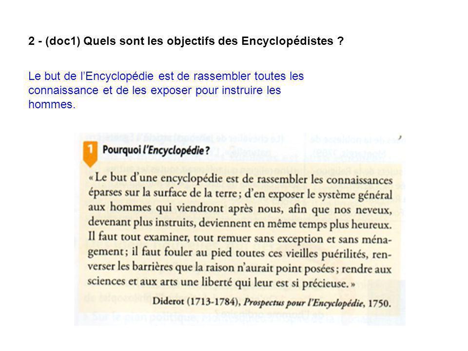 3 - (docs 2,3) De quoi est composée lEncyclopédie .