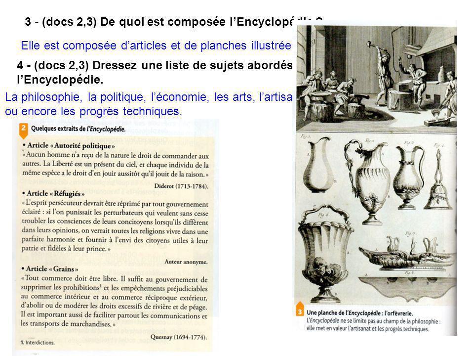 B - La diffusion de lEncyclopédie bouscule les idées.