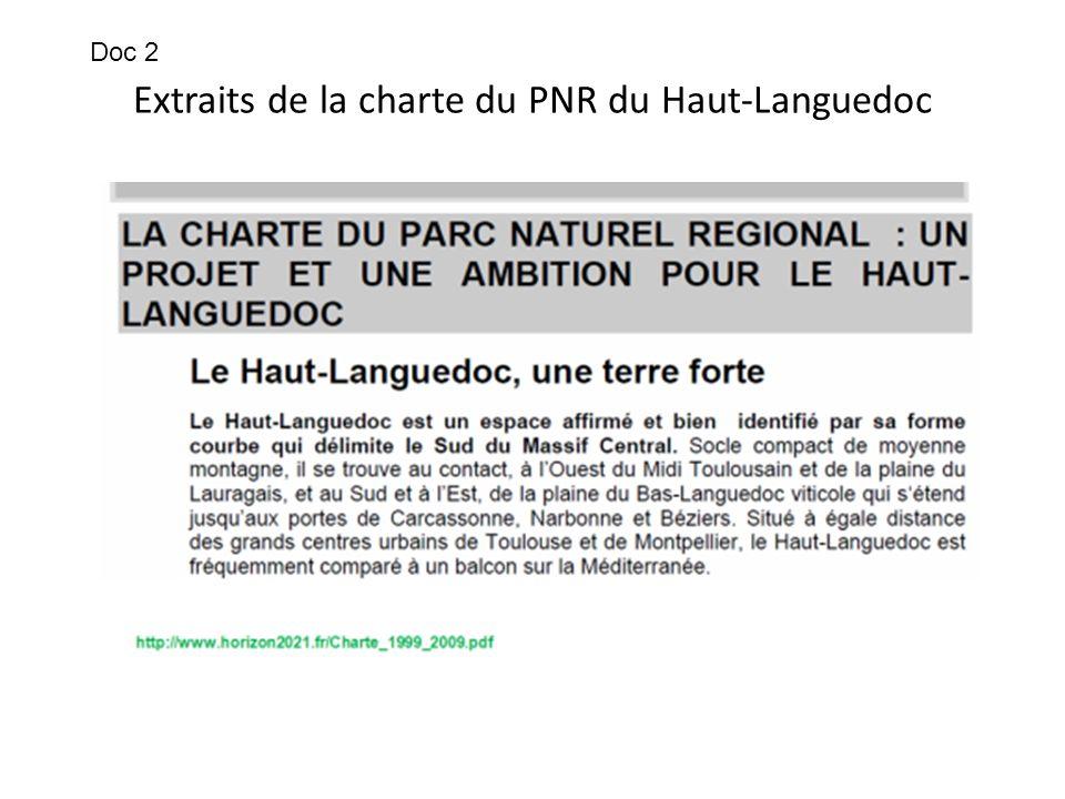 Extraits de la charte du PNR du Haut-Languedoc Doc 2
