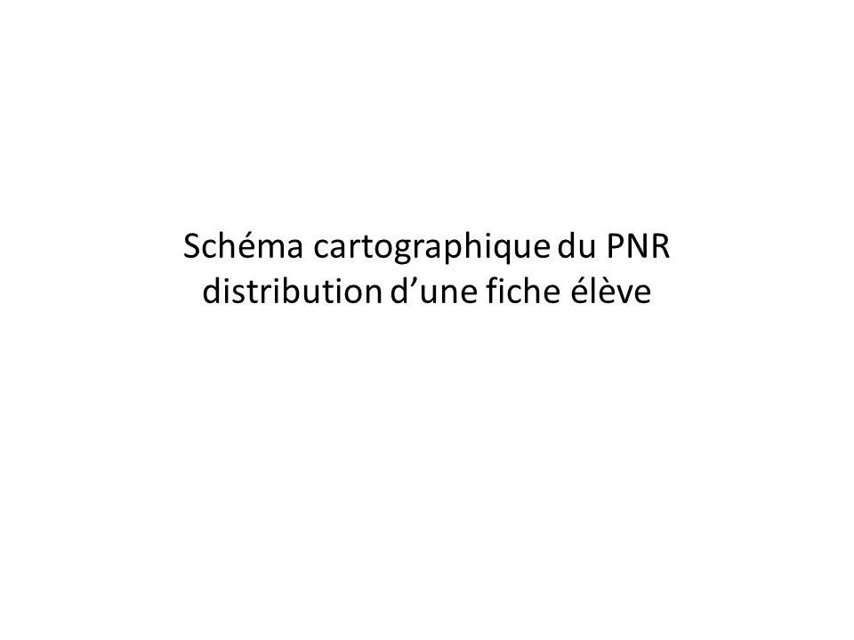 Schéma cartographique du PNR distribution dune fiche élève