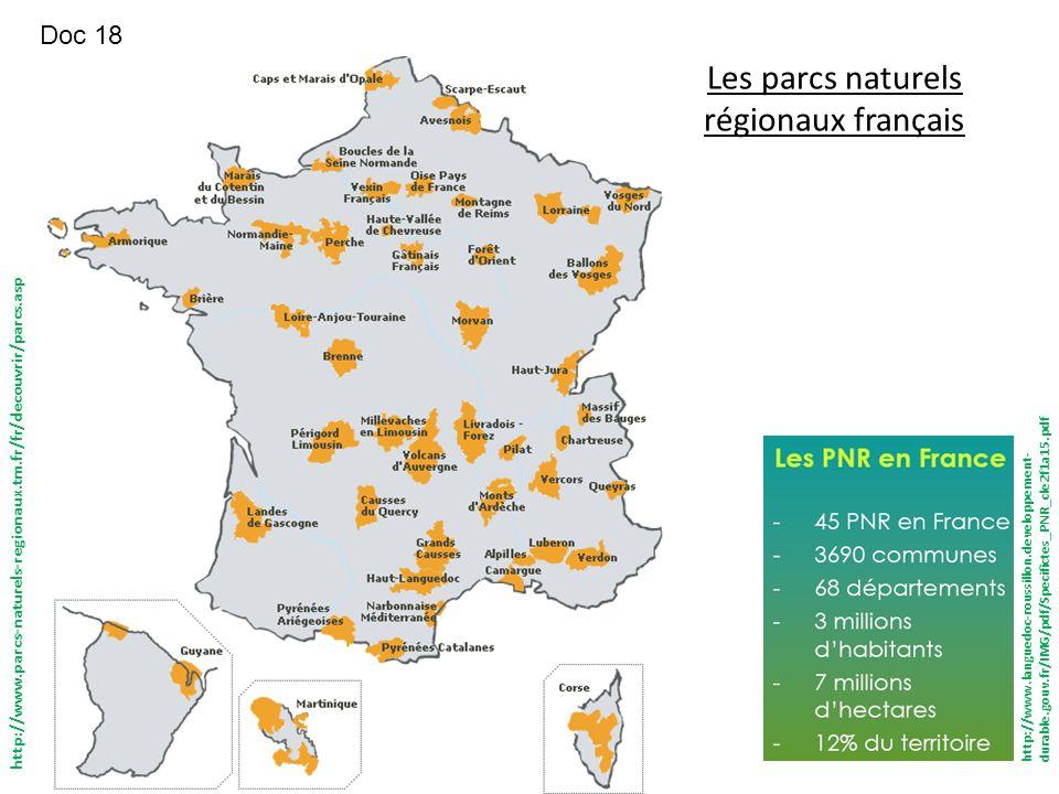 Les parcs naturels régionaux français http://www.parcs-naturels-regionaux.tm.fr/fr/decouvrir/parcs.asp http://www.languedoc-roussillon.developpement-