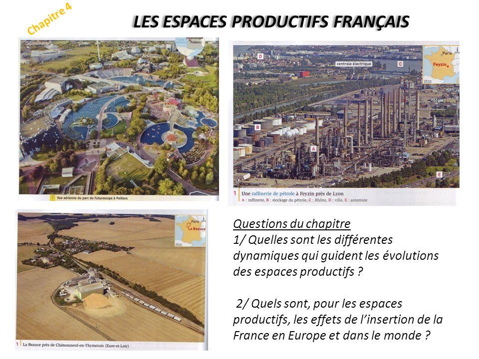 Chapitre 4 LES ESPACES PRODUCTIFS FRANÇAIS Questions du chapitre 1/ Quelles sont les différentes dynamiques qui guident les évolutions des espaces pro