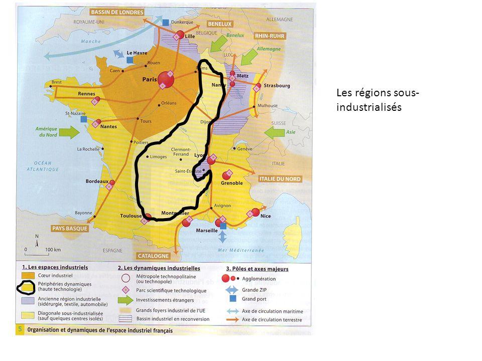 Les régions sous- industrialisés