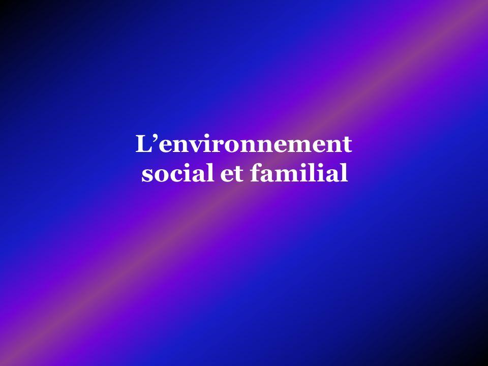 Lenvironnement social et familial