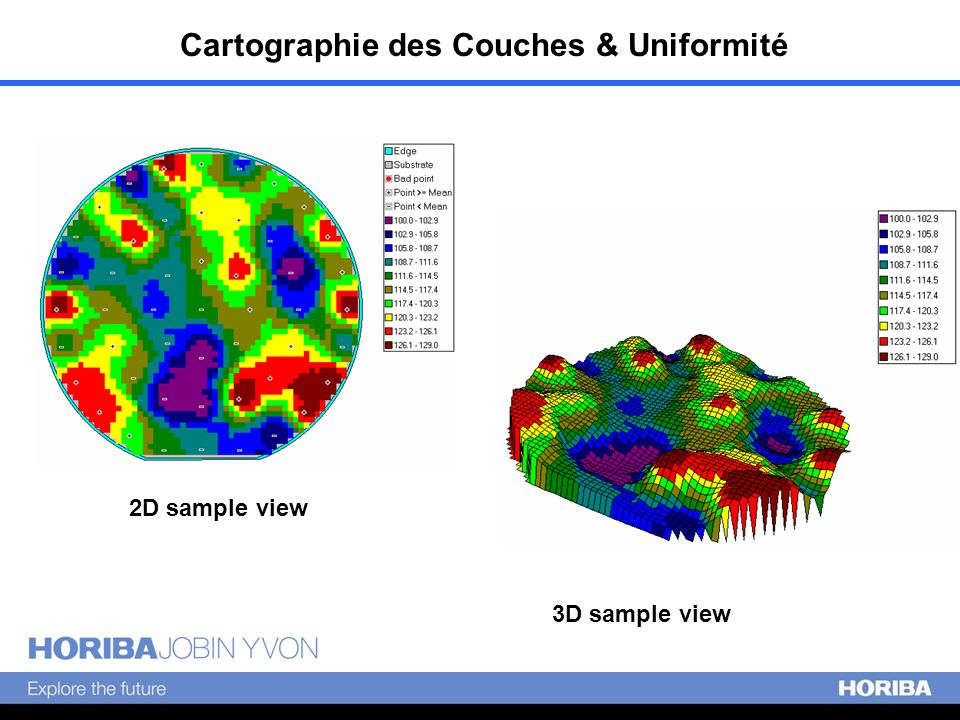 2D sample view 3D sample view Cartographie des Couches & Uniformité