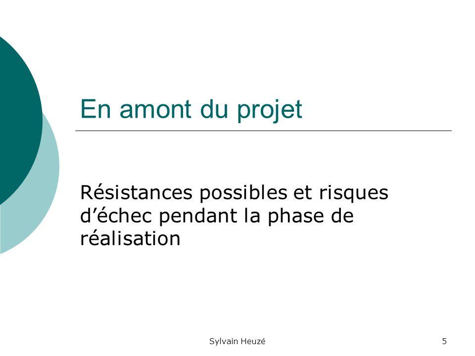 Sylvain Heuzé5 En amont du projet Résistances possibles et risques déchec pendant la phase de réalisation