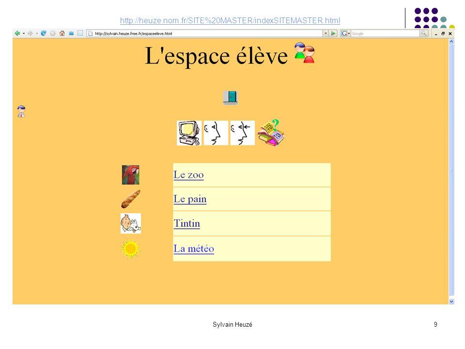 Sylvain Heuzé9 http://heuze.nom.fr/SITE%20MASTER/indexSITEMASTER.html