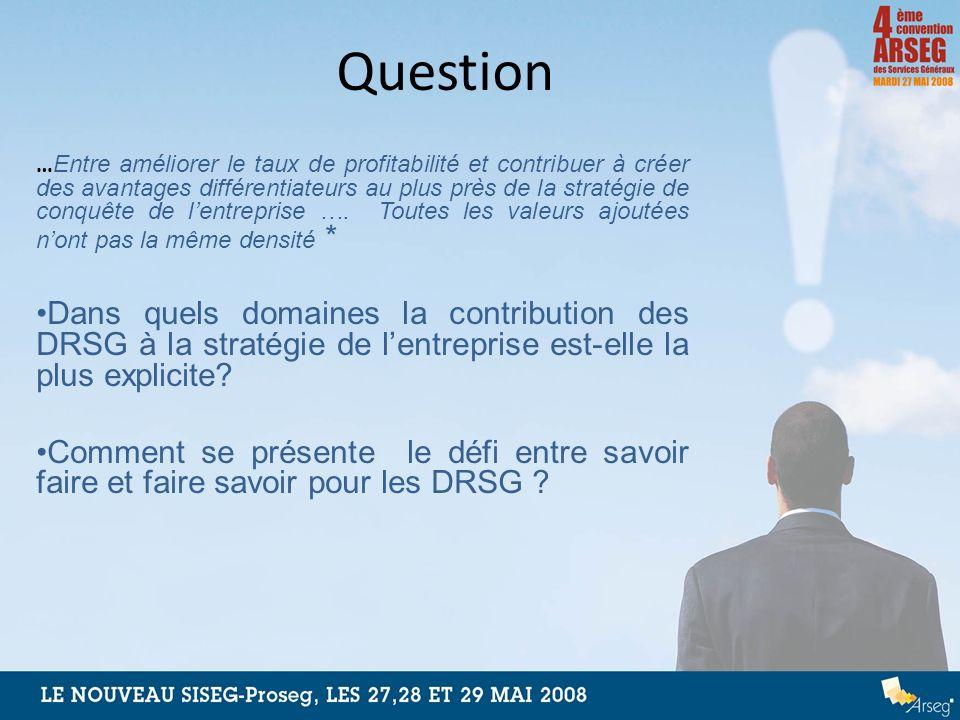 Question … Entre améliorer le taux de profitabilité et contribuer à créer des avantages différentiateurs au plus près de la stratégie de conquête de l
