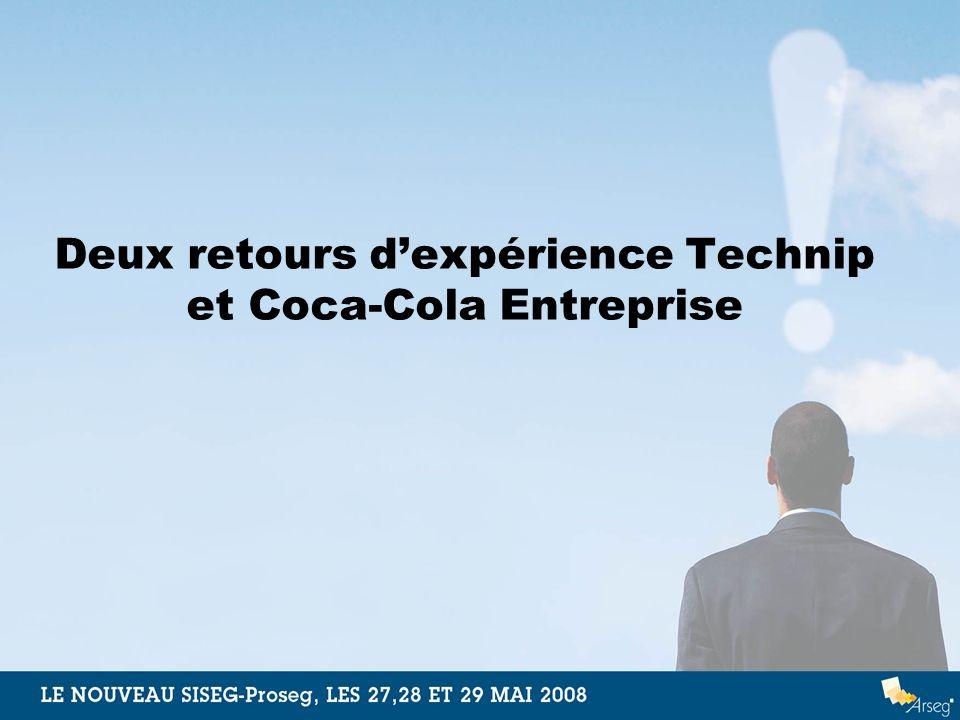 Deux retours dexpérience Technip et Coca-Cola Entreprise