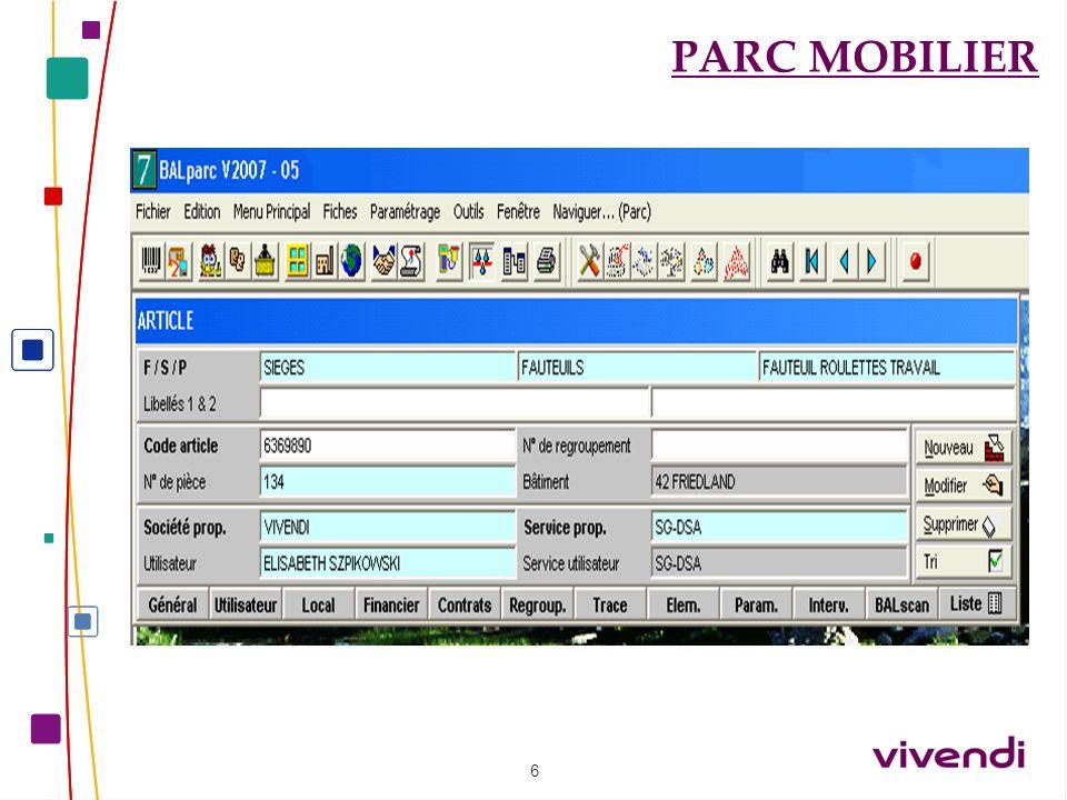 5 PARC MOBILIER