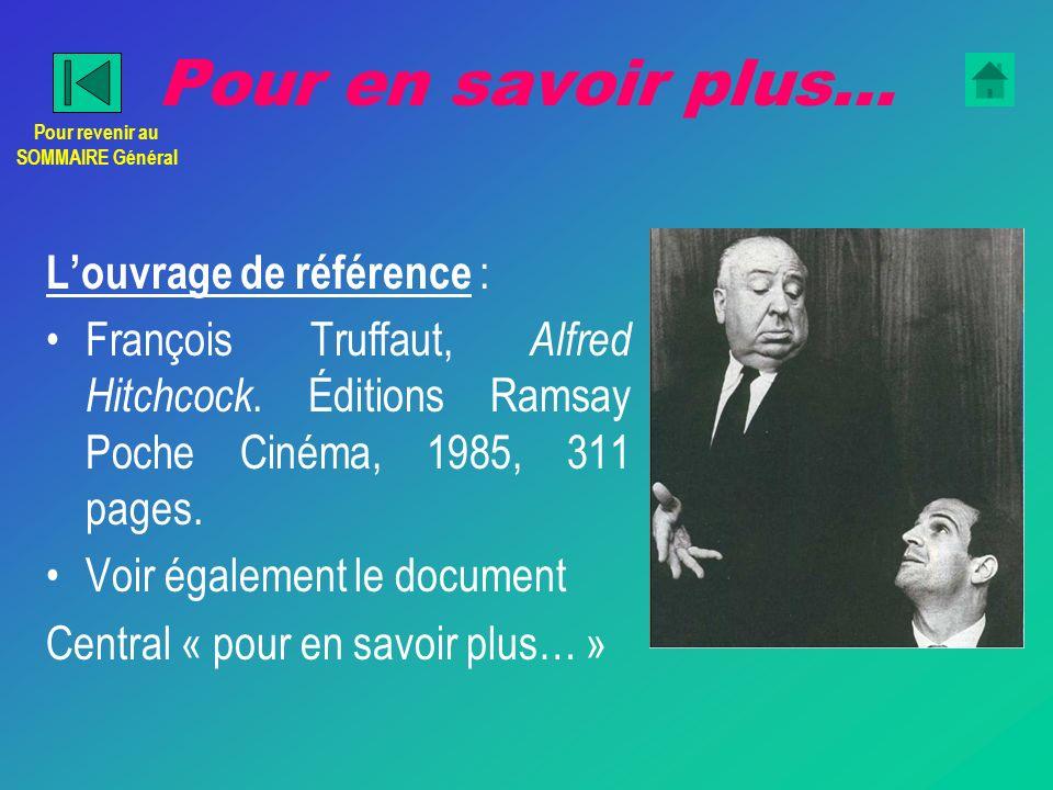 Pour en savoir plus… Louvrage de référence : François Truffaut, Alfred Hitchcock.