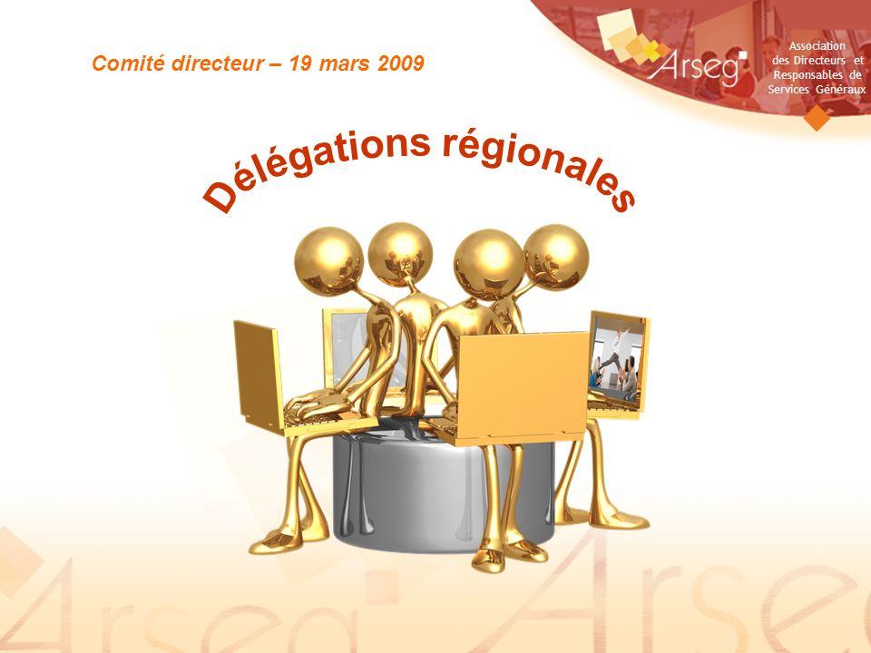 Association des Directeurs et Responsables de Services Généraux Pôle développement et fidélisation Comité directeur – 19 mars 2009