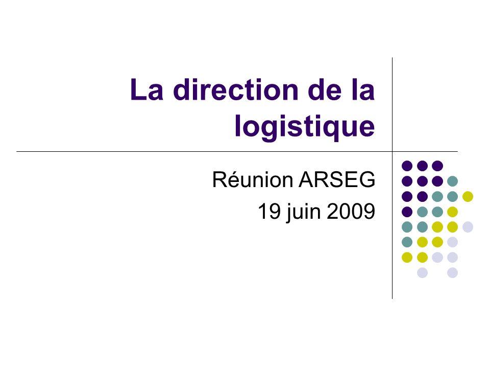La direction de la logistique Réunion ARSEG 19 juin 2009