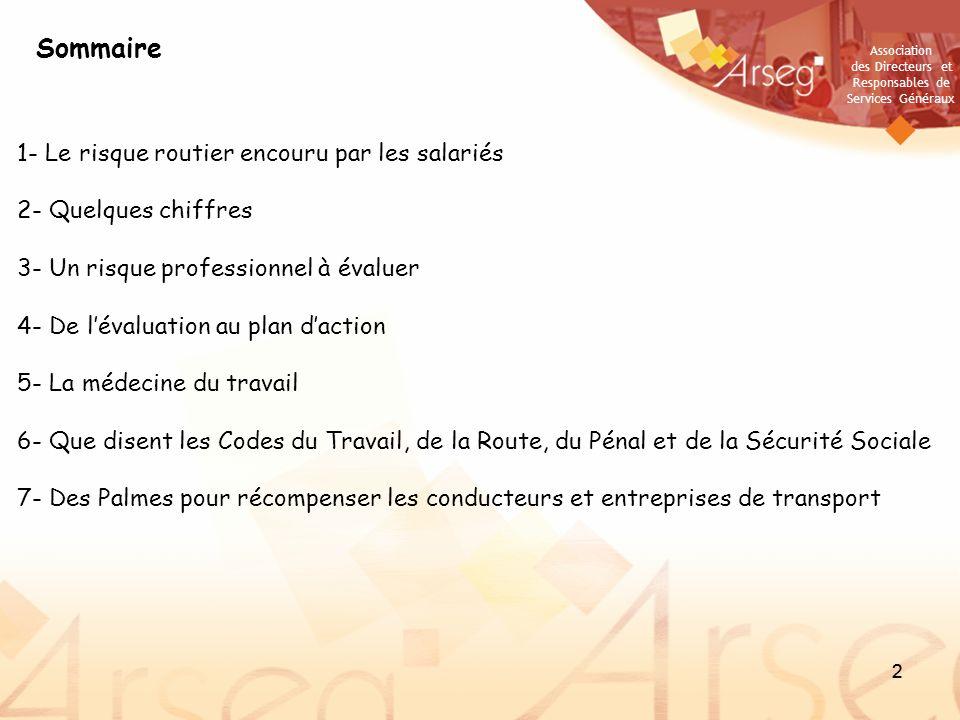 Association des Directeurs et Responsables de Services Généraux 23 Consultez les travaux des groupes de travail Sécurité – Sûreté sur le site de lArseg : http://www.arseg.asso.fr