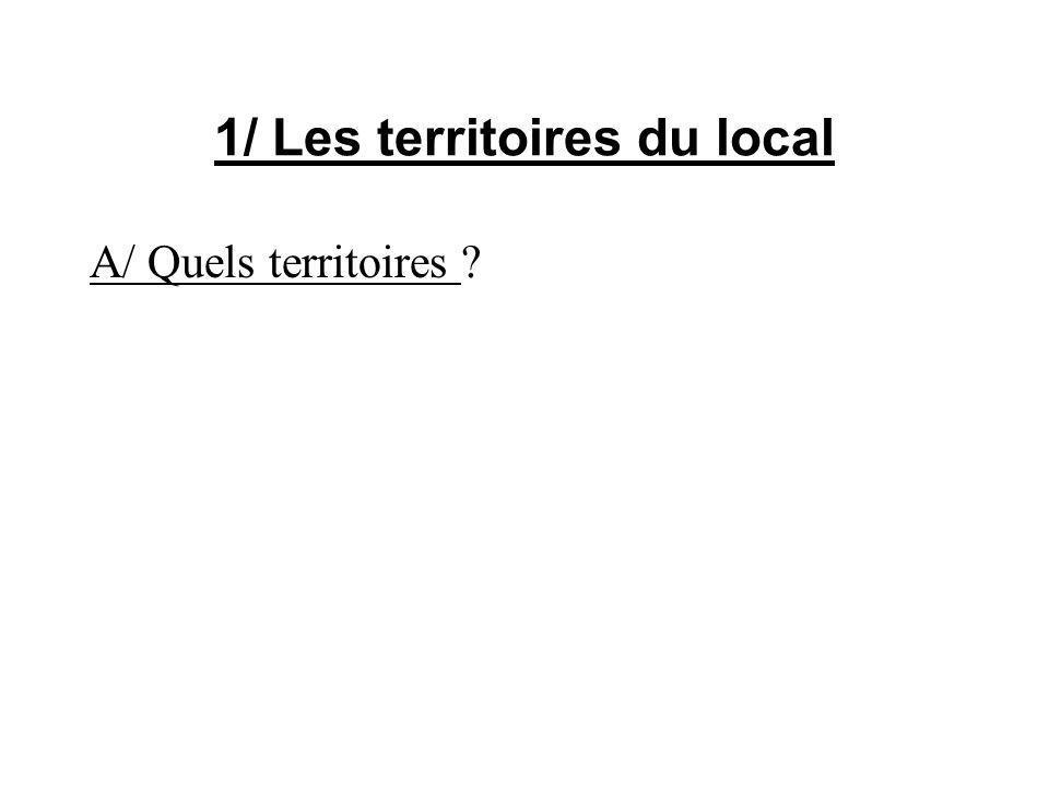 1/ Les territoires du local A/ Quels territoires ?