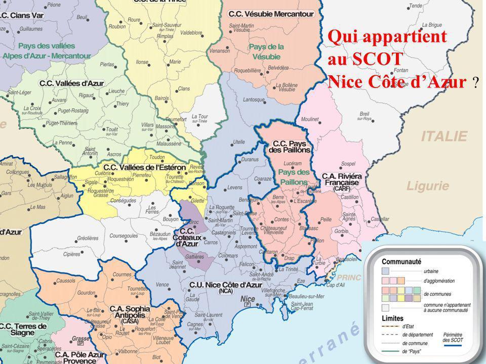 Qui appartient au SCOT Nice Côte dAzur ?
