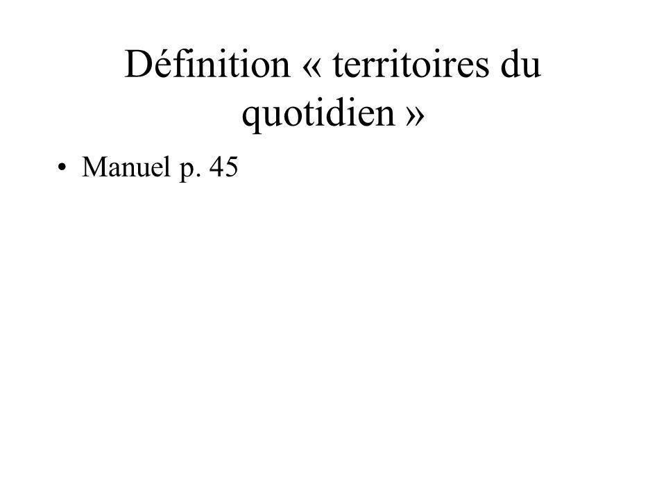 Définition « territoires du quotidien » Manuel p. 45