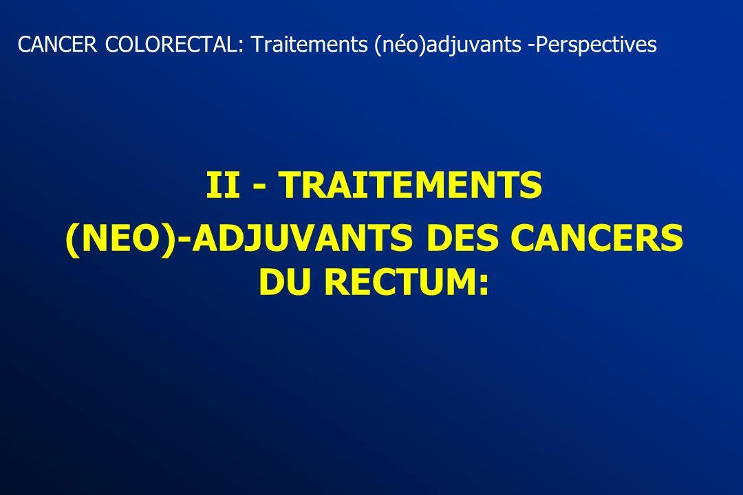 Essai PETACC 4 (CT vs contrôle ) Cancers coliques stade II (ouverture avril 2004) R 5FUc - AF HD + CPT11 pendant 6 mois Surveillance Stratification: C