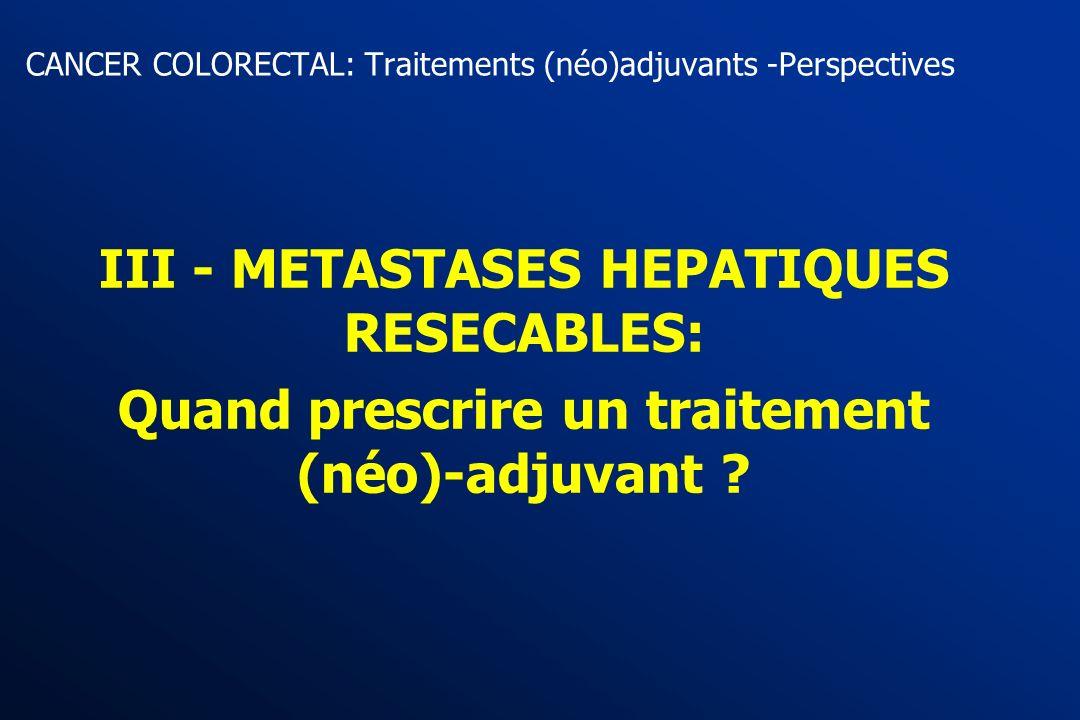 5. Essais en cours et futurs Phase II Capecitabine - Oxali - RT - Excision (CORE) Futur essai intergroupe RT Capecitabine - Oxali - RT R Cancers du re