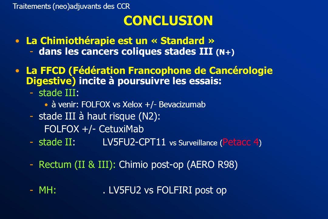CHIMIOTHERAPIE NEO-ADJUVANTE recommandations : chimiothérapie pré-opératoire à discuter Résécabilité : « difficile » (type II) Et Accord professionnel