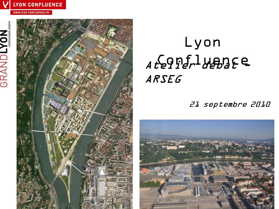 ATELIER – DEBAT Lyon Confluence, « ville marchable » La Confluence : un site contraint à forte attractivité, un enjeu fort autour de la place de la voiture et du stationnement en centre- ville.