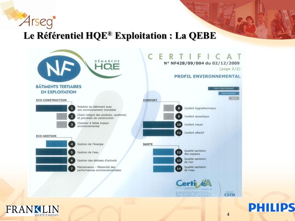 Le Référentiel HQE ® Exploitation : La QEBE 4