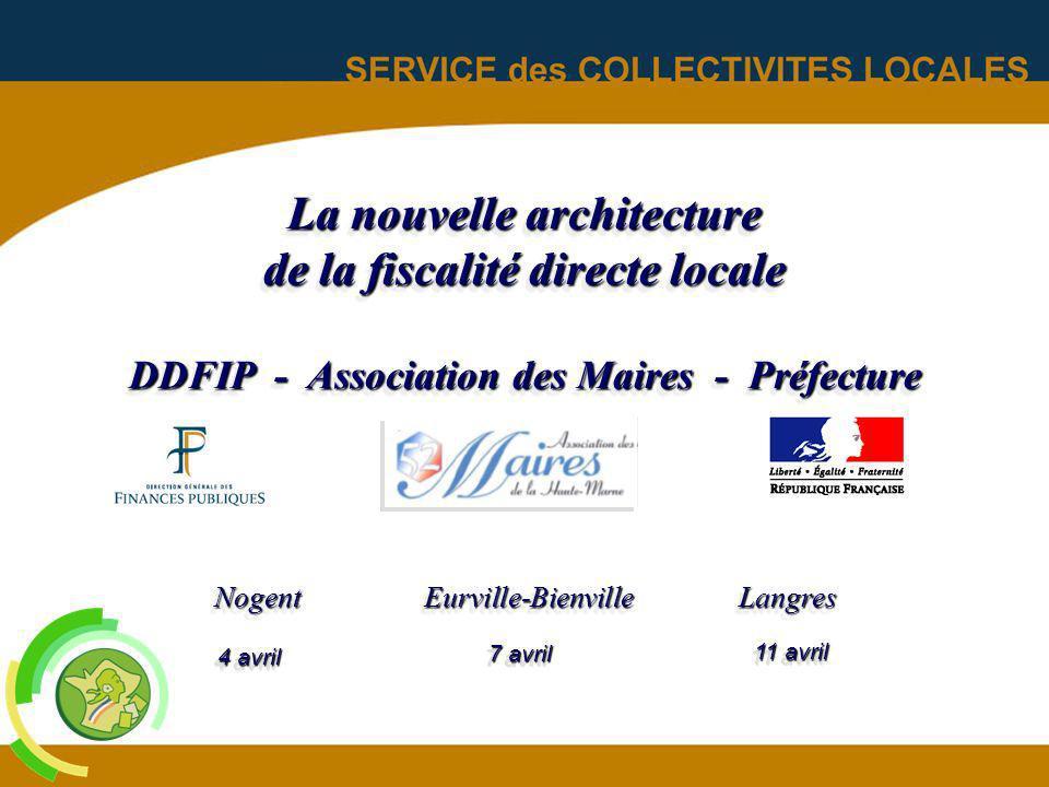 La nouvelle architecture de la fiscalité directe locale DDFIP - Association des Maires - Préfecture NogentEurville-Bienville Langres 4 avril 7 avril 1