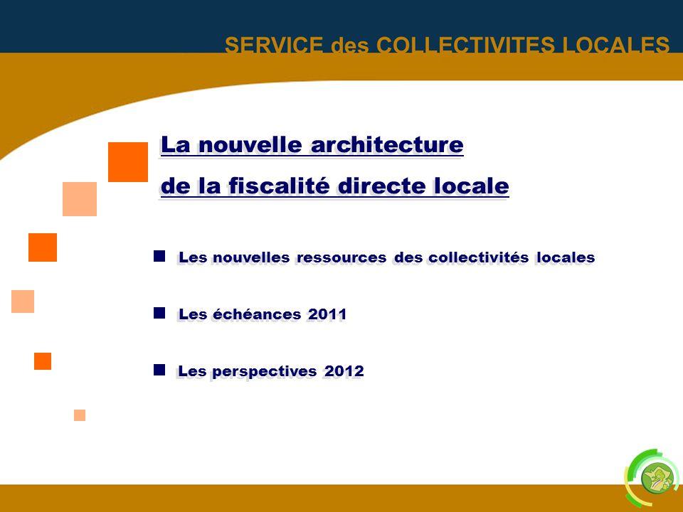 2 La nouvelle architecture de la fiscalité directe locale La nouvelle architecture de la fiscalité directe locale Les nouvelles ressources des collect