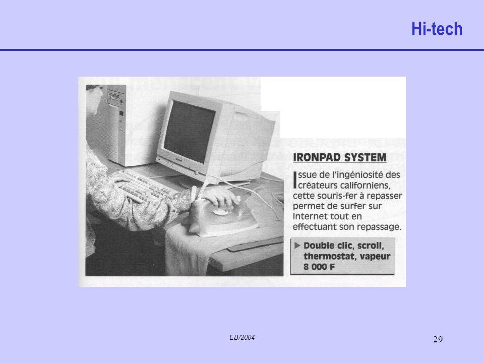 EB/2004 28 To click or not two click permet de déplacer le pointeur sur l'écran, un clic du bouton gauche sélectionne la zone d'écran ou de fenêtre da
