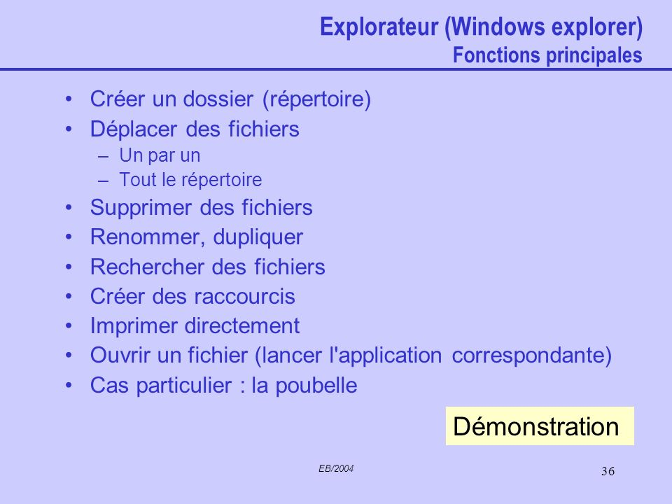EB/2004 35 Explorateur (Windows explorer)