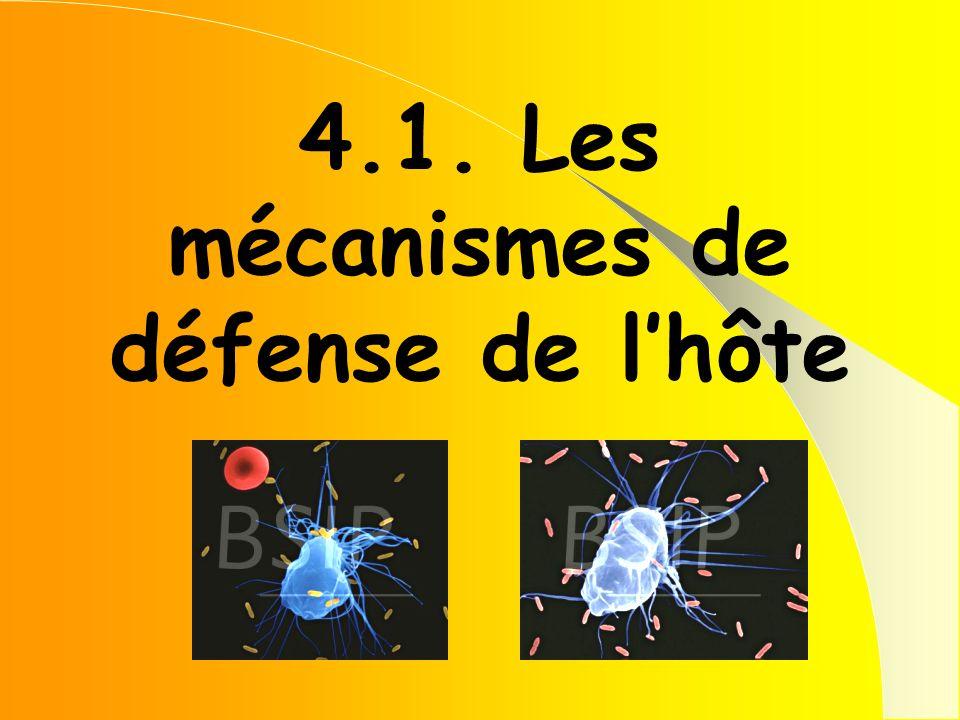 4.1. Les mécanismes de défense de lhôte
