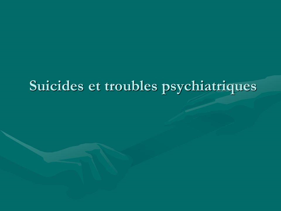 Suicides et troubles psychiatriques