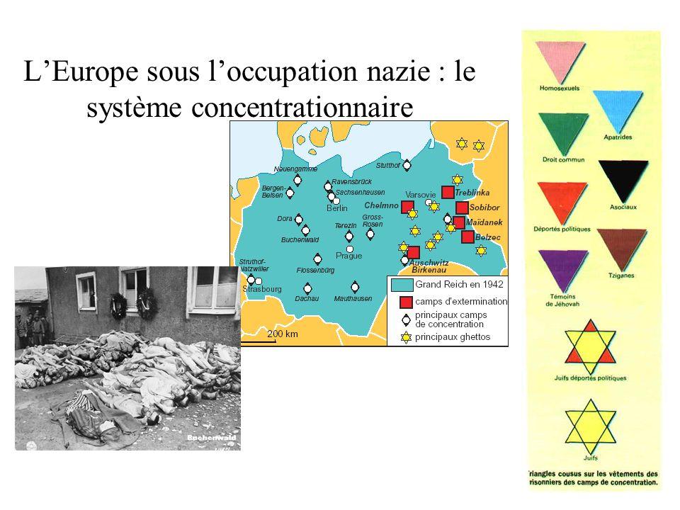 LEurope sous loccupation nazie : le système concentrationnaire