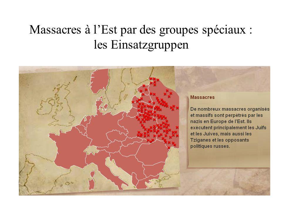 Massacres à lEst par des groupes spéciaux : les Einsatzgruppen