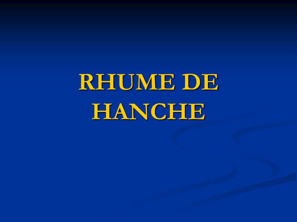 RHUME DE HANCHE