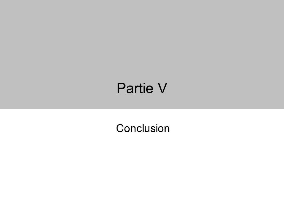Partie V Conclusion