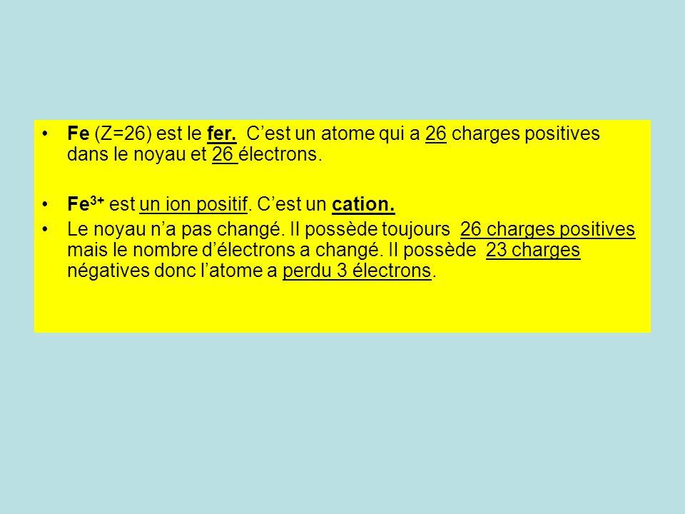 Cl (Z=17) est le Chlore. Cest un atome qui a 17 charges positives dans le noyau et 17 électrons. Cl - est un ion négatif. Cest un anion Le noyau na pa
