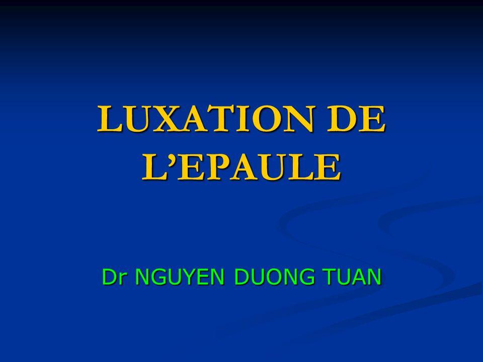 LUXATION DE LEPAULE Dr NGUYEN DUONG TUAN