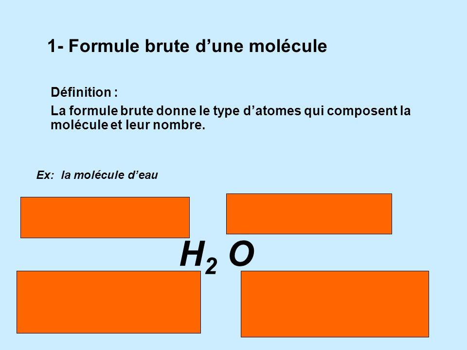 II.Représentation dune molécule Rappel : Symbole chimique d'un atome Un atome est représenté par une lettre majuscule ou alors deux lettres, la premiè