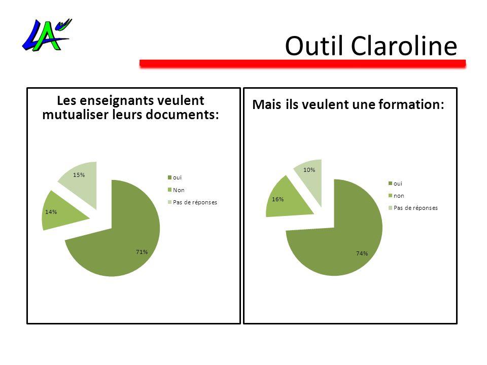 Outil Claroline Les enseignants veulent mutualiser leurs documents: Mais ils veulent une formation: