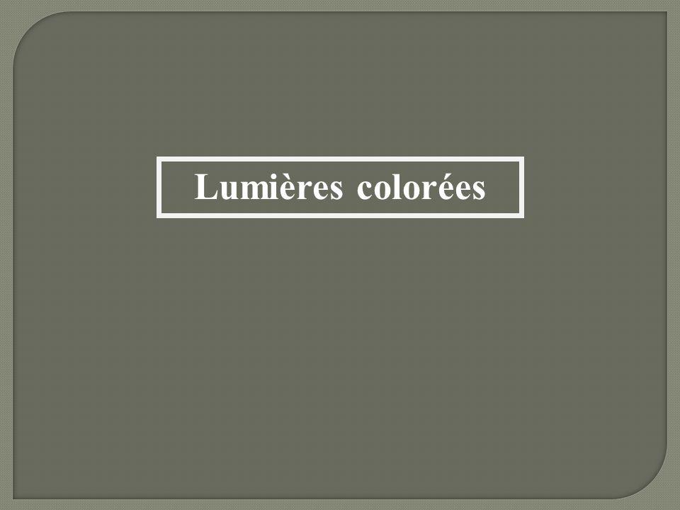 Lumières colorées