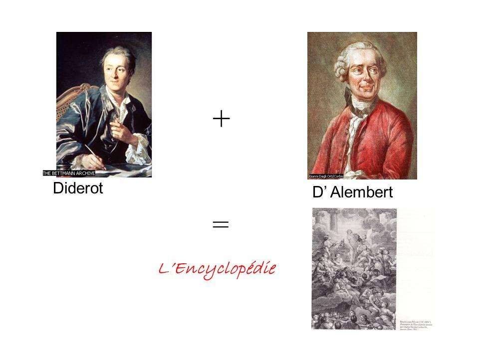 + Diderot D Alembert = LEncyclopédie