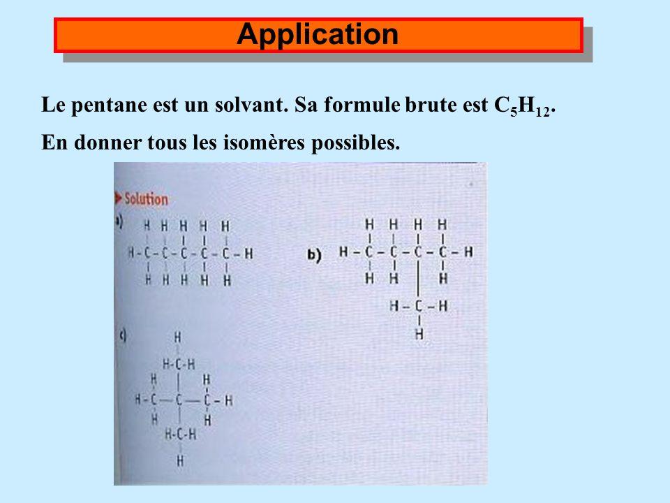 II. Représentation dune molécule Conclusion : Deux molécules qui ont les mêmes formules brutes mais des formules développées différentes sont des molé